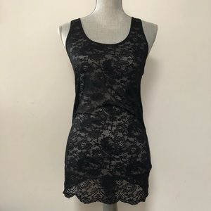Aritzia Wilfred lace body con tunic tank top